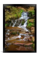 Nether North Grain Waterfalls                     , Framed Print