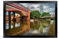 Castlefield and Beetham Tower, Manchester         , Framed Print