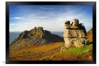 Valley of the Rocks                        , Framed Print