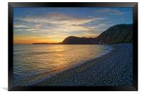 Sidmouth Sunset                      , Framed Print