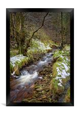 Ouzelden Brook, Peak District                     , Framed Print