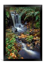 Upper Coppice Wheel in Autumn                     , Framed Print