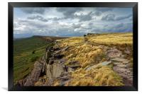 View along Stanage Edge                           , Framed Print