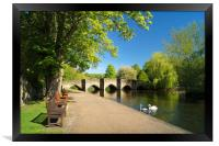Riverside Walk at Bakewell                      , Framed Print