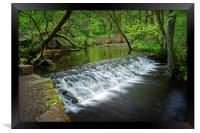 Holme Head Weir, Rivelin                         , Framed Print