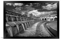 Sheaf Square Water Feature, Sheffield             , Framed Print