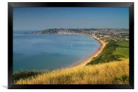 Swanage from Ballard Down                     , Framed Print