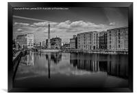 Liverpool - The Pumphouse Mono, Framed Print