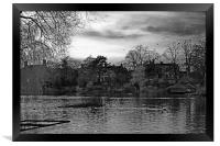 Lake in Aboretum park.., Framed Print