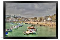 St Ives Harbour, Framed Print