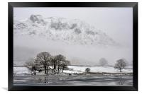 Freezing Lake District, Framed Print