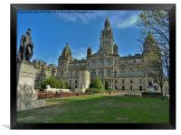 CITY CHAMBERS GEORGE SQUARE GLASGOW, Framed Print