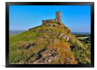 ST MICHAEL DE RUPE CHURCH BRENTOR, Framed Print