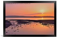 RED SKY NIGHT CUMBRAE DELIGHT, Framed Print