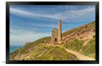 Pathways To Wheal Coates, Framed Print