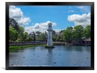 Clock Tower at Roath Park, Framed Print
