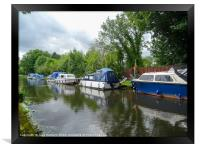 Along the Canal, Framed Print