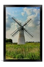 Thurne Dyke Drainage Mill, Framed Print