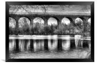 Viaduct at Reddish Vale Country Park, Framed Print