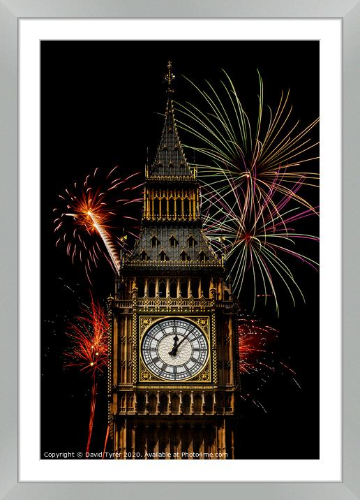 Buy Framed Mounted Prints of Big Ben Celebrations by David Tyrer