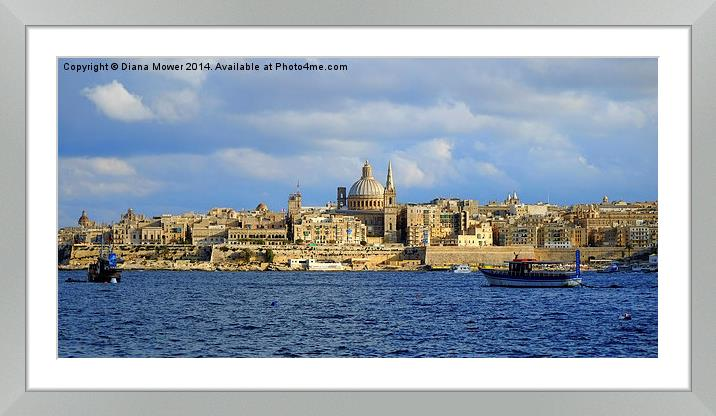 Buy Framed Mounted Prints of  Valletta Malta by Diana Mower