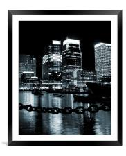Canary Wharf & Chains, Framed Mounted Print