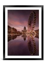 Big Circles in the Square, Framed Mounted Print
