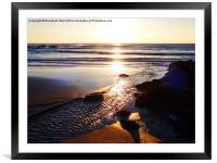 Sunrise Shore, Framed Mounted Print