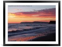 Pastel Sunset, Framed Mounted Print