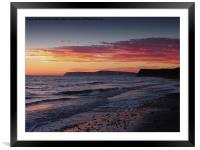 Brooke Beach Sunset, Framed Mounted Print