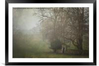 Misty Morning in Wroxall, Framed Mounted Print