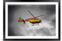 Air Ambulance, Framed Mounted Print