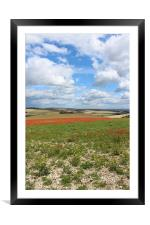 Rolling Countryside Of England, Framed Mounted Print