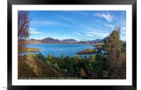 Looking over to Torridon from Applecross Peninsula, Framed Mounted Print