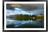 Storm Cloud Reflections, Framed Mounted Print