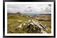 Looking Across to Chrome Hill, Framed Mounted Print