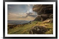 View Across Derwent Valley, Framed Mounted Print