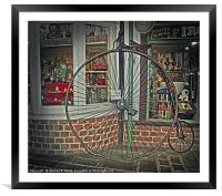 Penny Farthing, Framed Mounted Print