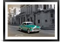 Classic Green Car, Framed Mounted Print