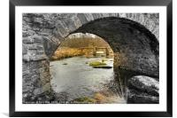 Clapper Bridge at Post Bridge on Dartmoor., Framed Mounted Print