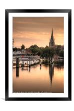 Evening over Marlow, Framed Mounted Print