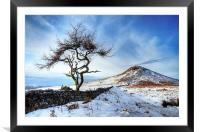 Winter at Roseberry Topping, North Yorkshire, Framed Mounted Print