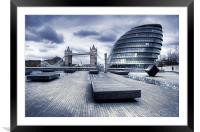 City Hall, London, Framed Mounted Print