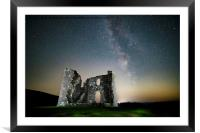 Milky Way over Skelton Tower on the North York Moo, Framed Mounted Print