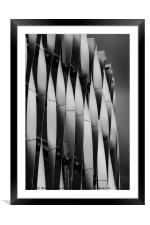 Abstract of Victoria Gate Shopping Centre Car Park, Framed Mounted Print