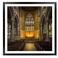 St Lawrence Church Hungerford, Framed Mounted Print