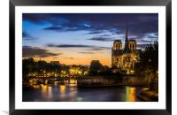 Notre Dame Cathedral, Framed Mounted Print