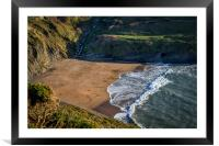 Mwnt Beach in Spring, Framed Mounted Print