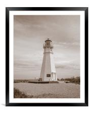 Cape Jourmein Lighthouse, Framed Mounted Print