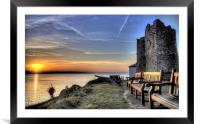 Sunrise from Castle Hill Tenby, Framed Mounted Print